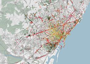 Mapa odorífer de Barcelona.