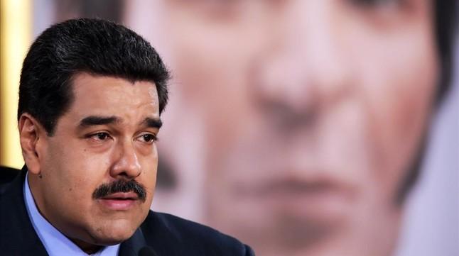 Maduro habla durante un programa de televisión, en Caracas, el 17 de febrero.