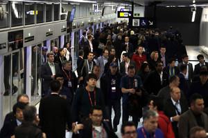 Segunda jornada de huelga de metro. Línea 9