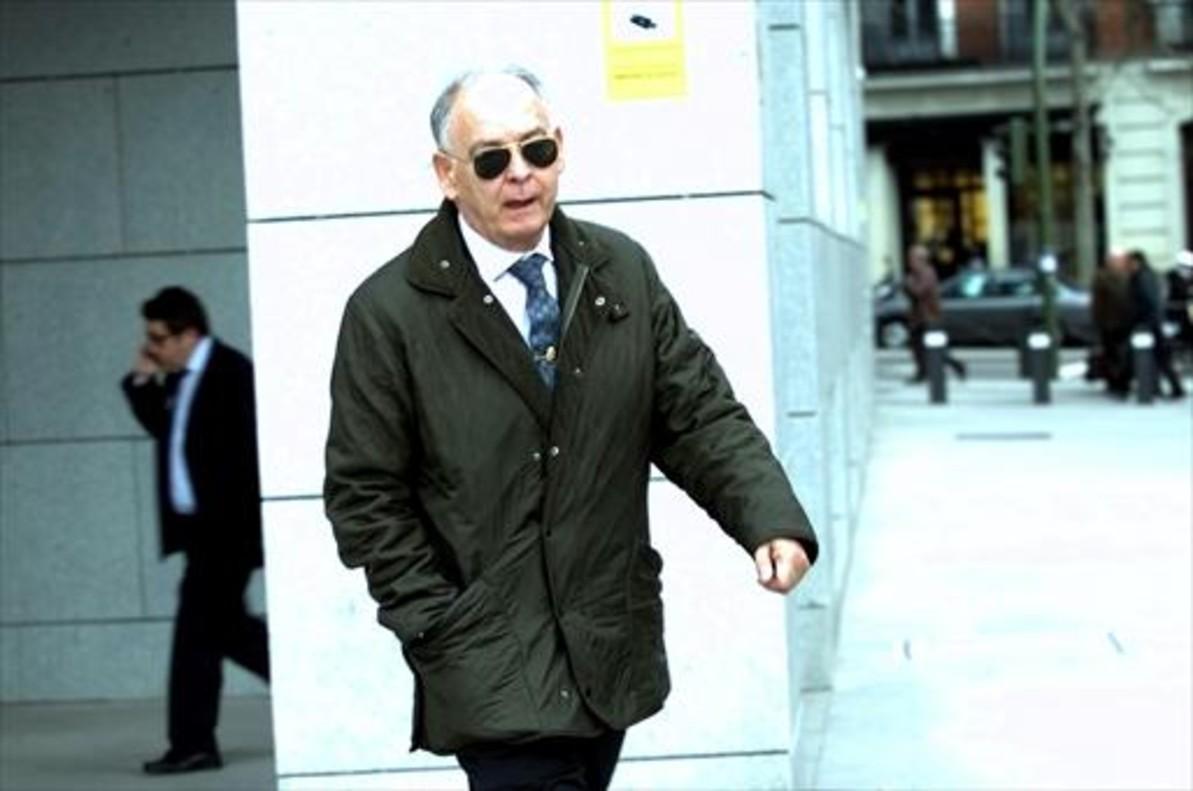 Eugenio Pino, exnúmero dos de la Policía, ayer en Madrid.