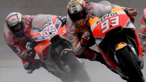 aguasch40616673 honda rider marc marquez of spain c leads ducati rider and171020182312