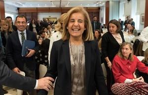 La ministra de Empleo y Seguridad Social, Fátima Báñez, ayer, en Sevilla.