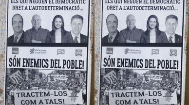 La fiscalía investiga unos carteles contra Iceta, Arrimadas, Rabell y Albiol en Lleida
