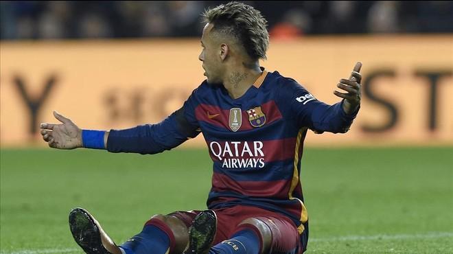 Neymar es recupera de la trepitjada que va rebre amb l'Athletic