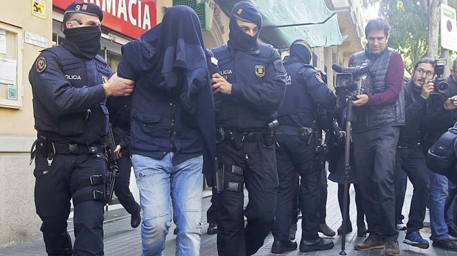 Cuatro de los ocho detenidos en operación antiyihadista, relacionados con autores de atentados de Bruselas