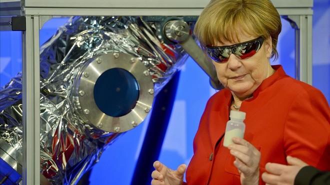 Merkel, l'astronauta