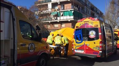 Detingut un home per degollar la seva parella abans de volar la casa a Madrid