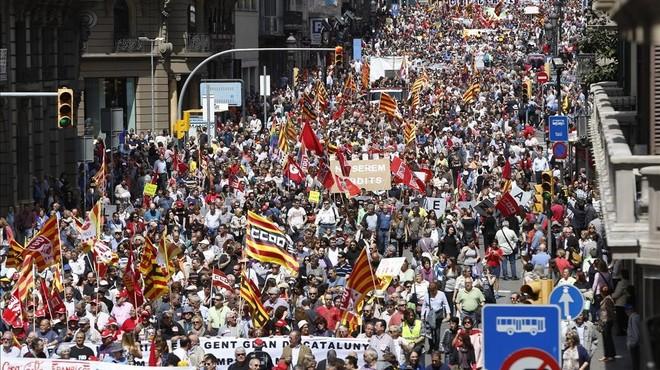 """1 de Maig """"a l'ofensiva"""" a Catalunya"""