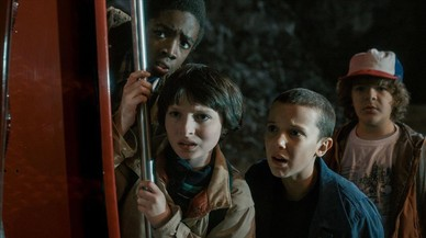Los cuatro ni�os protagonistas de 'Stranger things'