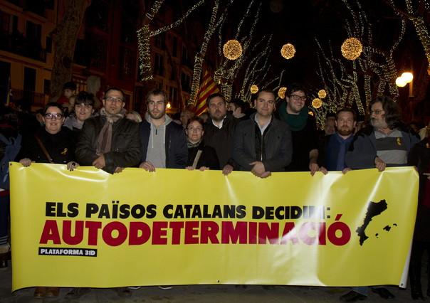 Miles de personas piden en Palma la independencia de los Pa�sos Catalans
