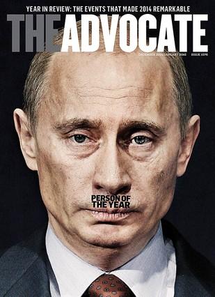 Una revista gay retrata en portada a Putin como un Hitler