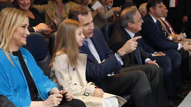 La infanta Sofia 'debuta' al Bernabéu