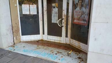 Ciutadans denuncia el séptimo ataque a su sede de L'Hospitalet en dos años