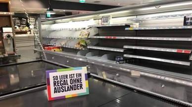 Un supermercat d'Alemanya buida les prestatgeries per combatre la xenofòbia i el racisme