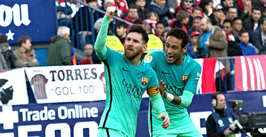 Triunfo de rebeldía del Barça (1-2)