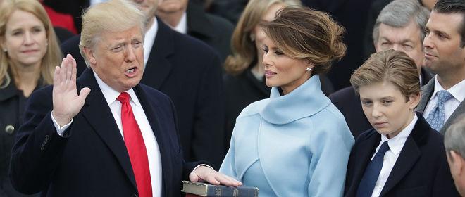 """Trump: """"Hoy es el día en que la gente toma las riendas de este país otra vez"""""""