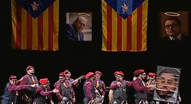 Una 'chirigota' caricaturitza Catalunya