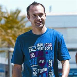 Iniesta, ayer, despus del entrenamiento en la Ciudad Deportiva.