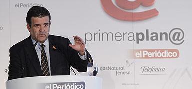 Alfons L�pez Tena, en el debate de Primera Plan@. ALBERT BERTRAN