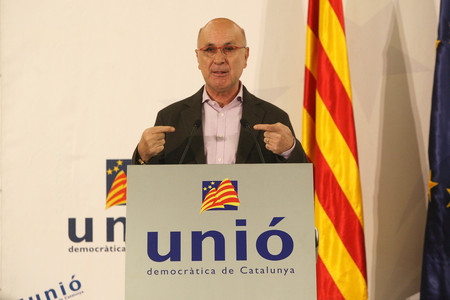 Josep Antoni Duran Lleida, durante el Consell Nacional de Uni, el pasado 15 de diciembre. 