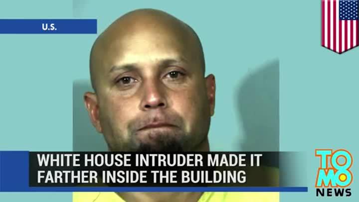 Recorrido hechopor el intruso en el interiorde la Casa Blanca.