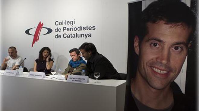... primer periodista decapitado por el Estado Islámico presenta en Barcelona la fundación dedicada a su hijo junto a Marginedas, Espinosa y Garcia Vilanova - 1413306328892