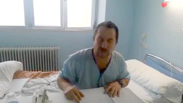 Javier Lim�n lanza un mensaje al Gobierno desde el Hospital Carlos III.