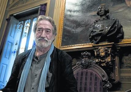 Jordi Savall, en la Reial Acad�mia de les Ci�ncies i les Arts.