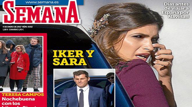 Sara Carbonero i Iker Casillas bategen el seu fill Lucas a Porto.