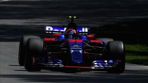 Sainz apenas pudo rodar en la carrera