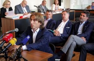 Luka Modric, durante su declaración en el juicio