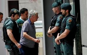 Ángel María Villar llegando a la sede de la federación el pasado martes