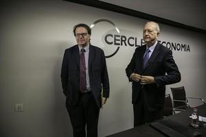 Juan José Brugera y Jordi Alberich, en el Cercle dEconomia.