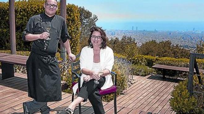 El chef Iv�n Tarrag� y Cristina Roures, directora del Gran Hotel La Florida.