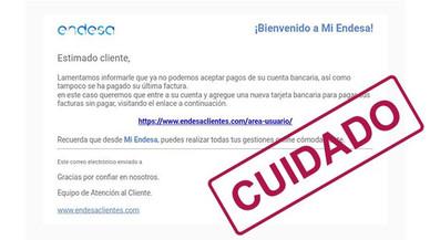 Endesa sufre un ataque de 'phishing'