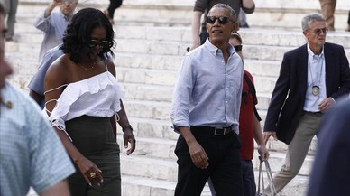 Los Obama, de vacaciones en la Toscana