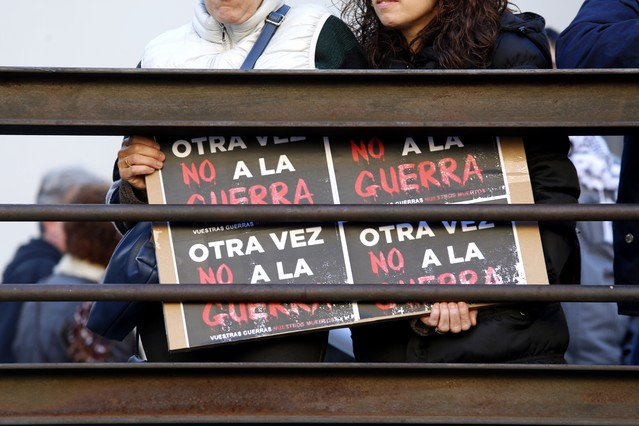 'No en mi nombre' recorre las capitales españolas contra la guerra