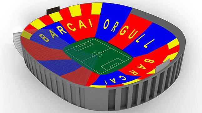 El Camp Nou exhibirá un mosaico con 90.000 cartulinas en el Barça-Bayern