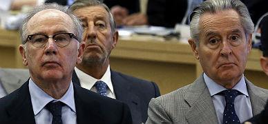 Rodrigo Rato y Miguel Blesa, en el banquillo de los acusados.