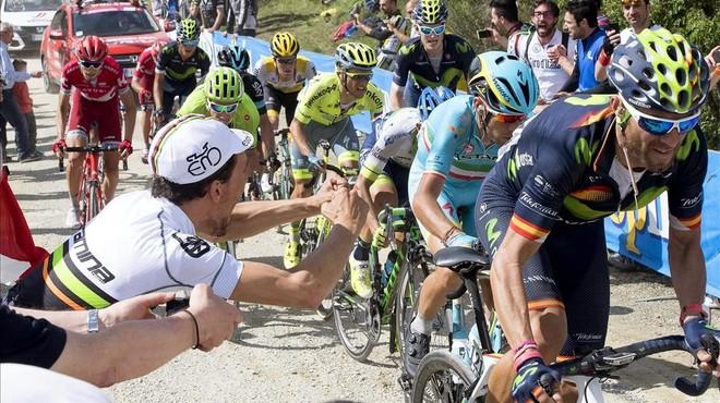 Valverde exerceix de patró del Giro