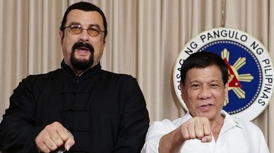 Steven Seagal y el presidente de Filipinas, unidos contra la droga