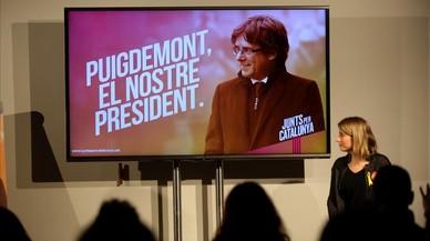 'Puigdemont, el nostre president', lema de campanya de Junts per Catalunya