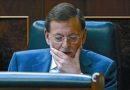 Rajoy en el Congreso, ayer.