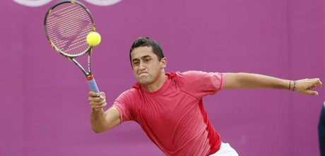 Nicol&amp;#225;s Almagro, en el duelo de cuartos ante Murray.