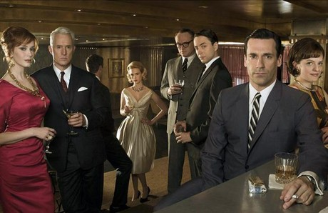 Los principales actores de la serie 'Mad men'.