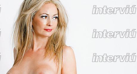 Olvido Hormigos, en una de las fotos de Interviú.