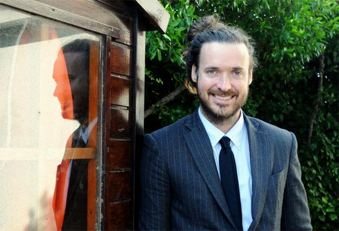 El director norteamericano Mike Cahill, fotografiado en Sitges el pasado día 5, tras la presentación del filme.