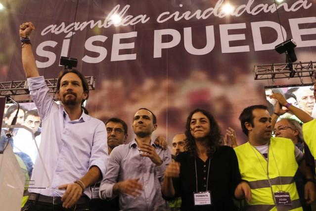 Asamblea ciudadana de PODEMOS en Madrid