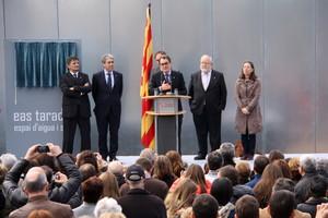 Artur Mas, president de la Generalitat, durant el discurs dinauguració de lEAS de Taradell (Osona).