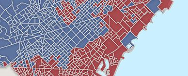 El mapa de las municipales en Barcelona, calle a calle